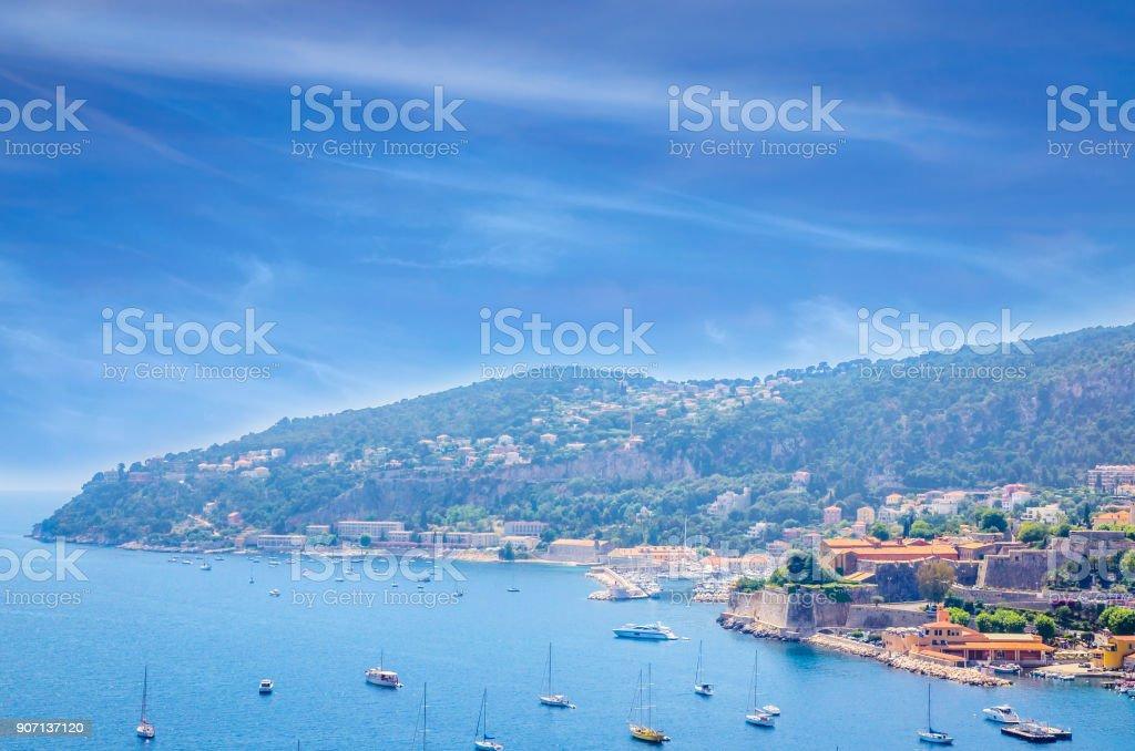 Beautiful coast of french riviera, FranceBeautiful coast of french riviera, France stock photo