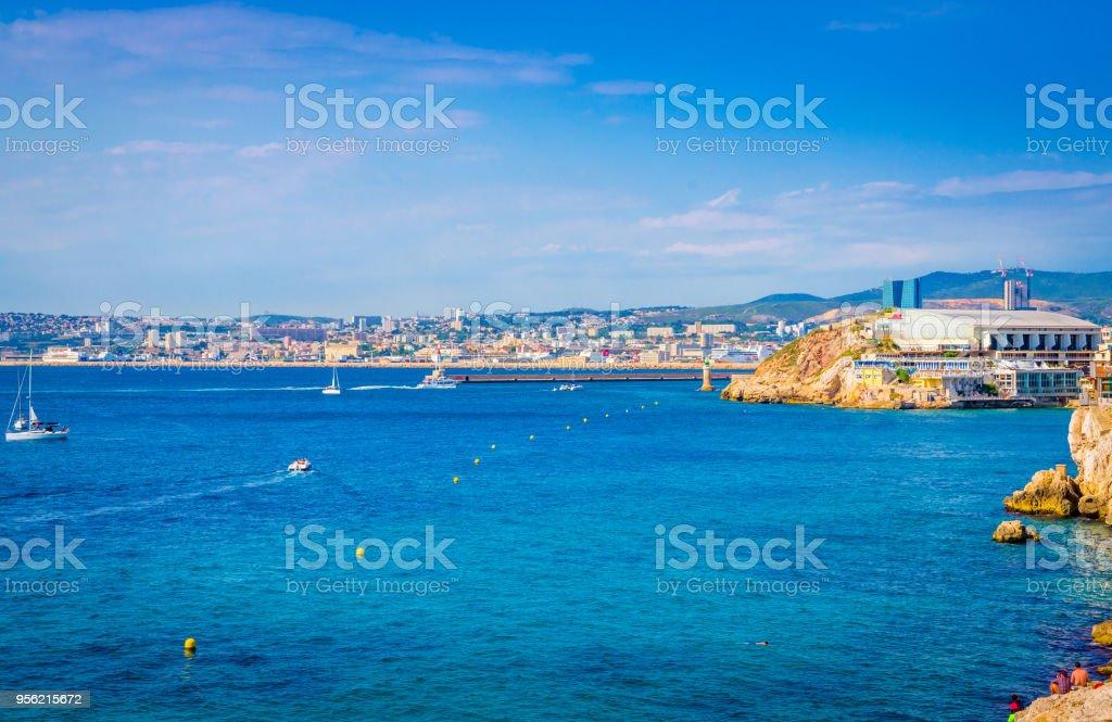 Beautiful coast of Marseilles, France stock photo
