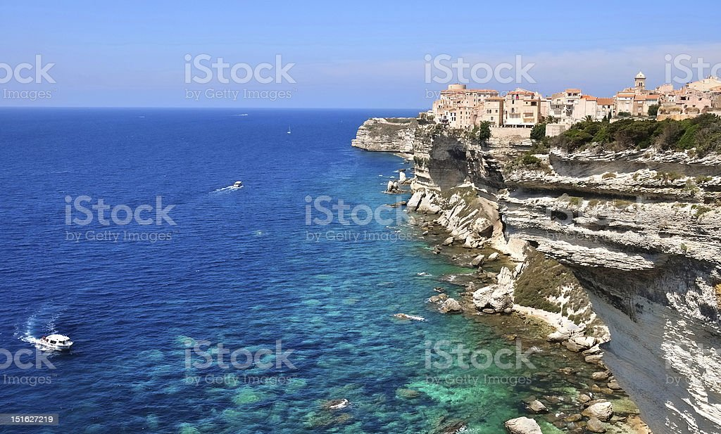 A beautiful coast of the Mediterranean sea stock photo
