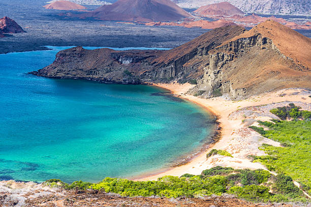 Beautiful Coast View in Galapagos stock photo
