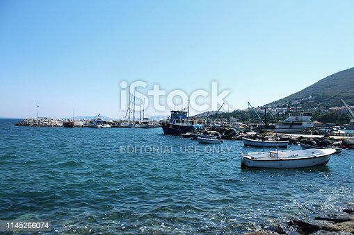 Beautiful Coast with boats.