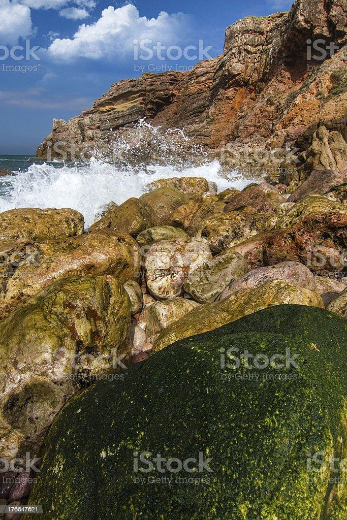 Hermosa costa de Algarve foto de stock libre de derechos