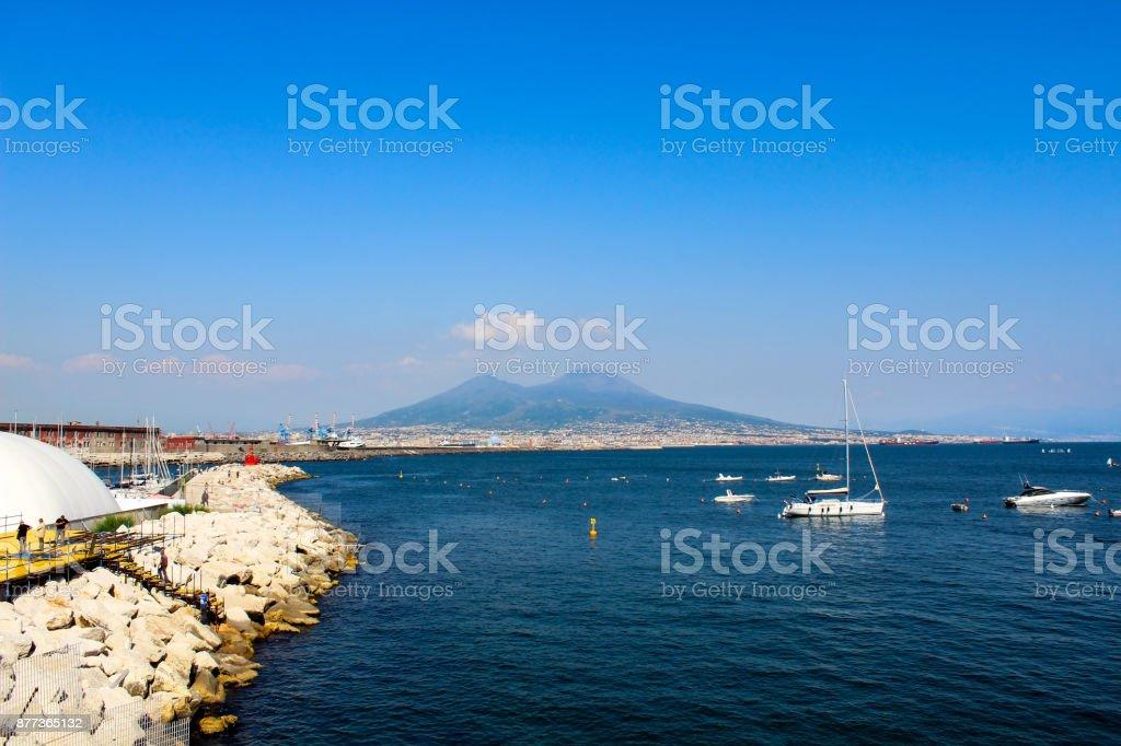 Beautiful coastal landscape in Naples stock photo