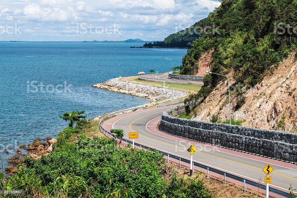 Beautiful Coastal road stock photo