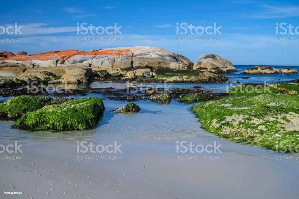 Beautiful coastal scenery, Bay of Fires stock photo