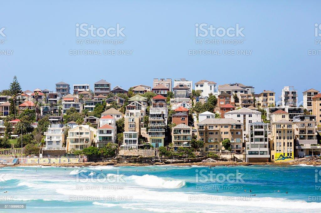 Magnifique ville côtière de Bondi de la banlieue de Sydney, en Australie, espace de copie - Photo
