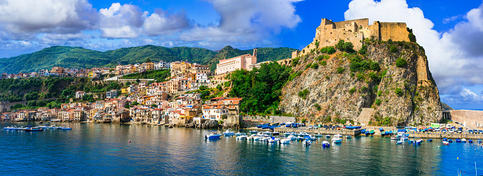 Beautiful Coastal Town Scilla In Calabria View With ...