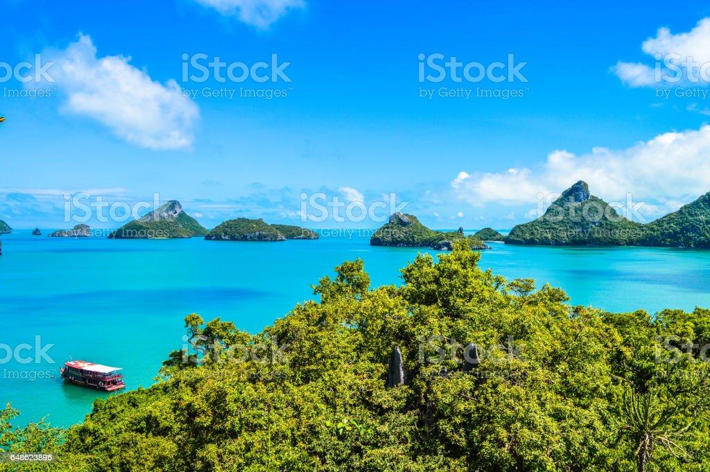 Beautiful coastline and islands in Thailand stock photo