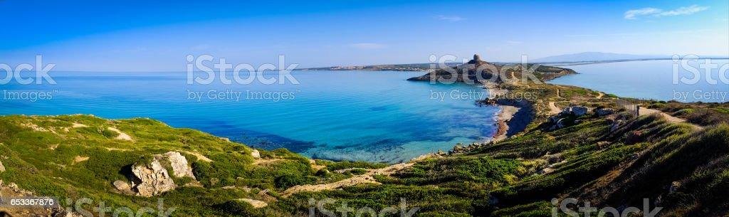 Beautiful Coastline and Sea in Sardinia stock photo