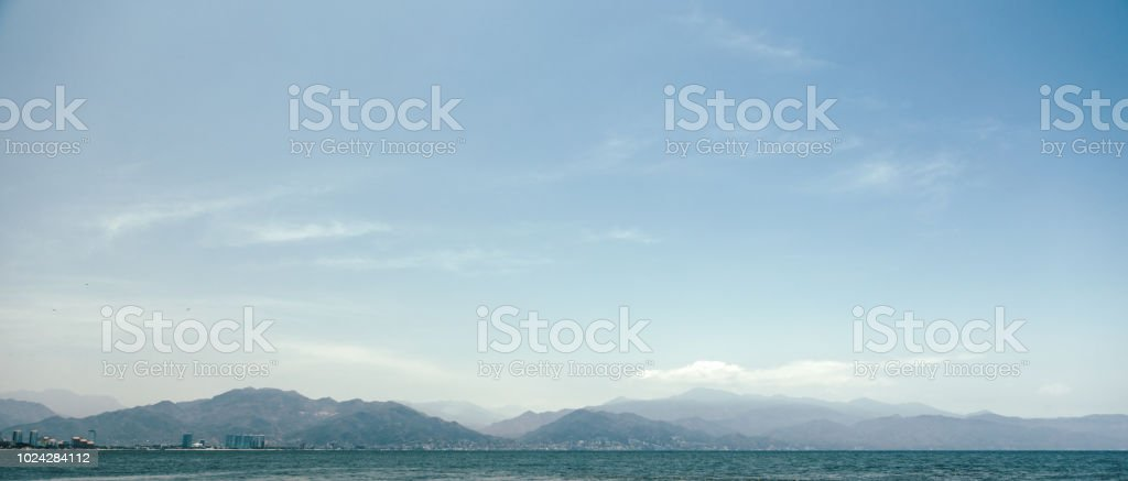 beautiful coastline in Mexico stock photo