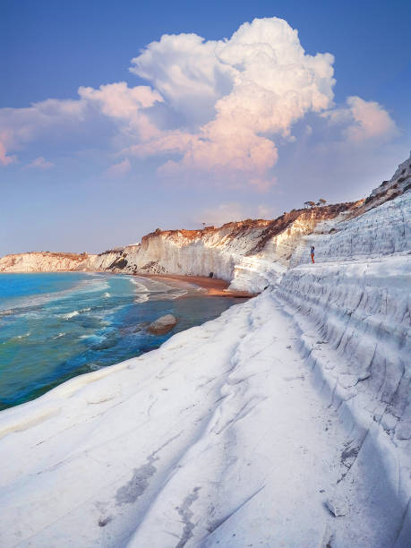 Wunderschöne Küste in Sizilien (Italien) - Scala dei Turchi – Foto