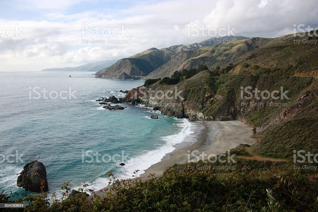Beautiful coastline of Big Sur California, USA stock photo