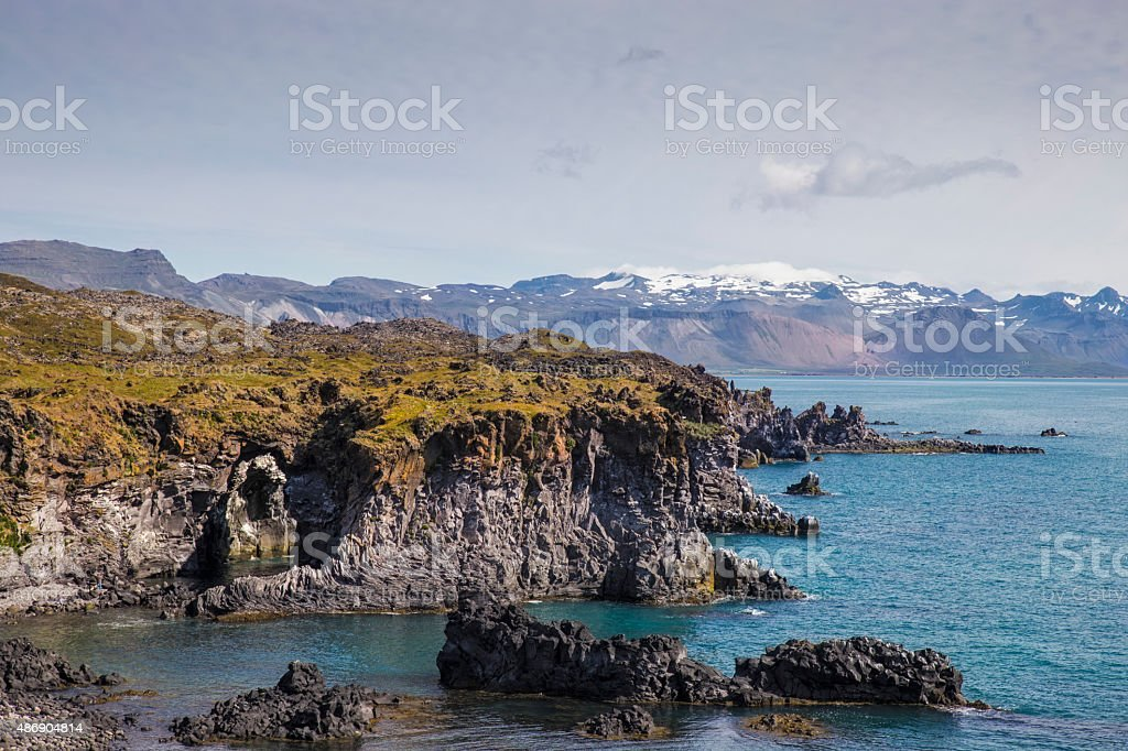 Beautiful coastline stock photo