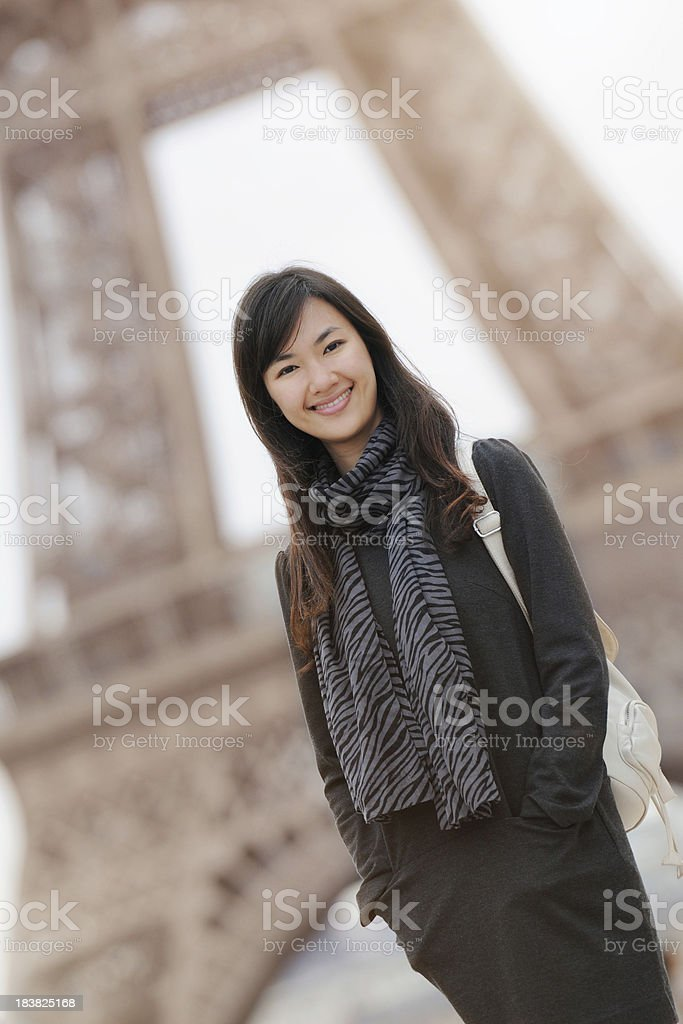 Beautiful College Student in Paris - XLarge royalty-free stock photo