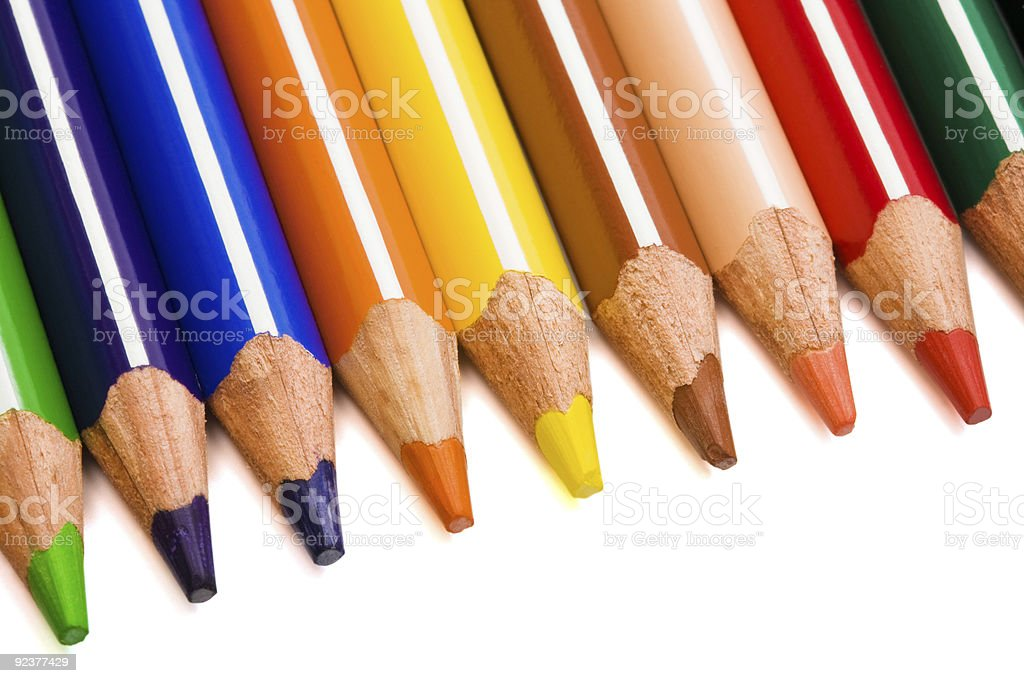 Beautiful color pencils royalty-free stock photo