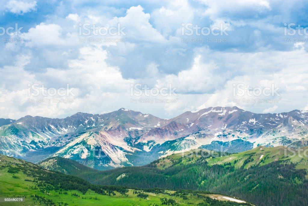 Beautiful Colorado summer mountain landscape. stock photo