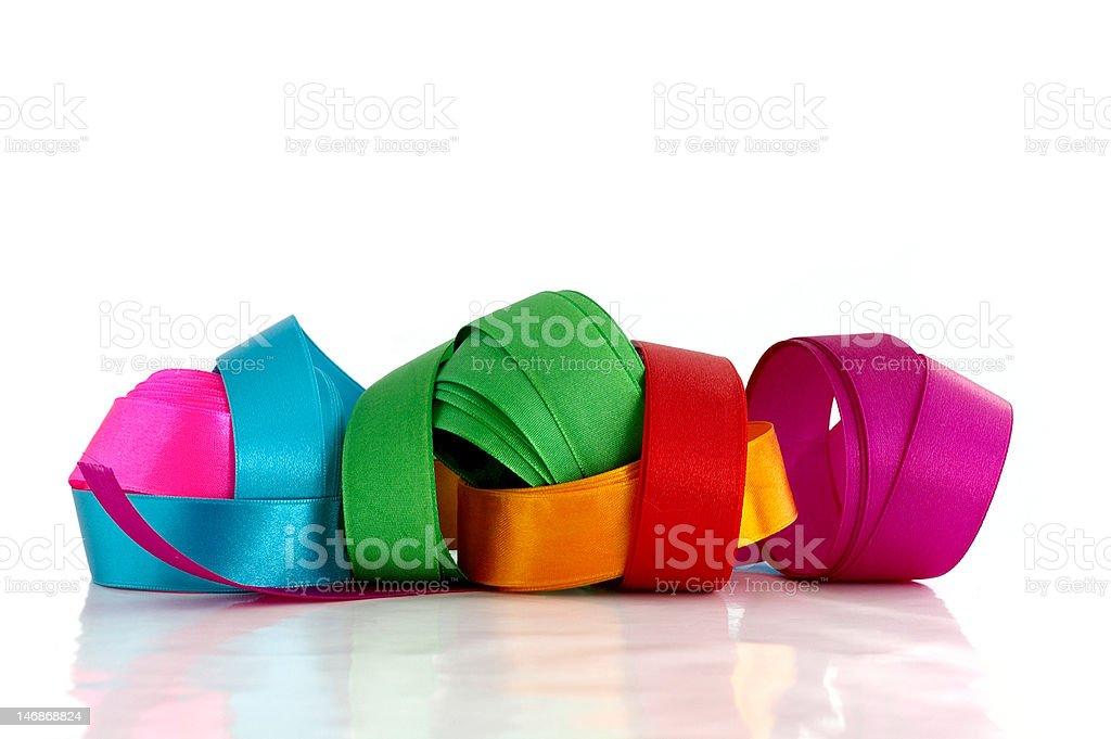 Beautiful colored ribbons royalty-free stock photo