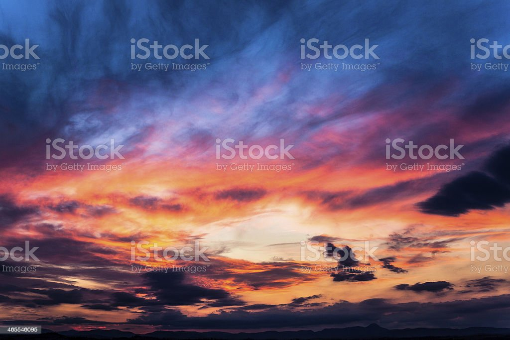 Beautiful Colored Sky at Sunset royalty-free stock photo
