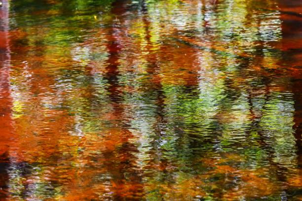 schöne bunte abstrakte wasserreflexion - bilder landschaften stock-fotos und bilder