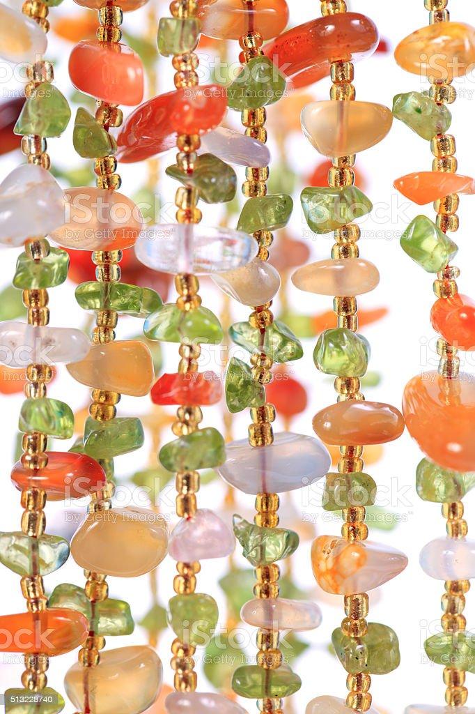 Beautiful colorful beads stock photo