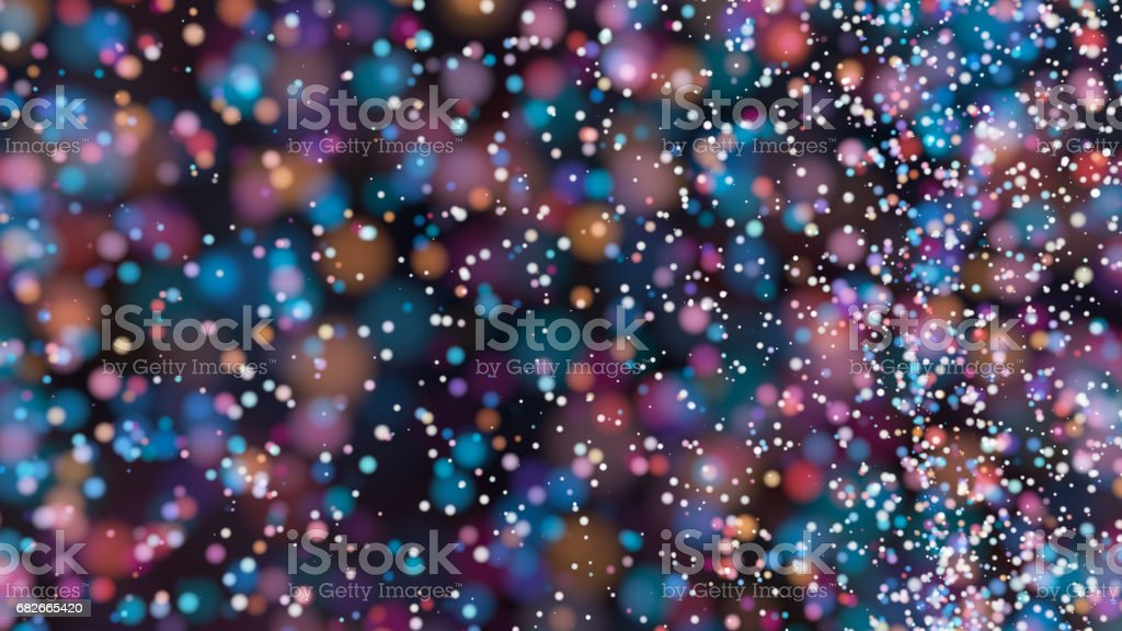Beautiful colorful bokeh blurred background defocused lights - foto de acervo