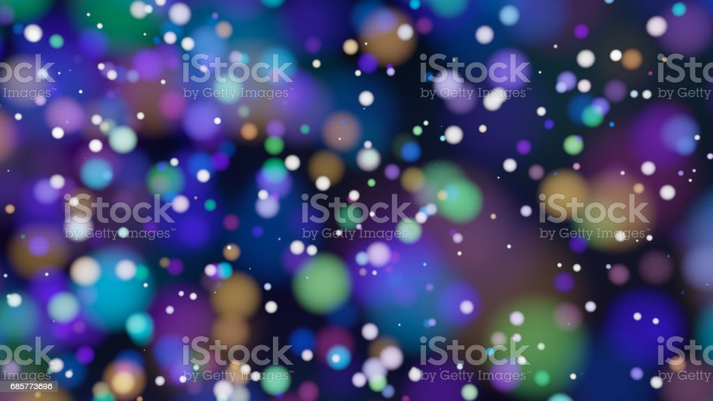 Beautiful colorful bokeh blurred background defocused lights royalty-free stock photo