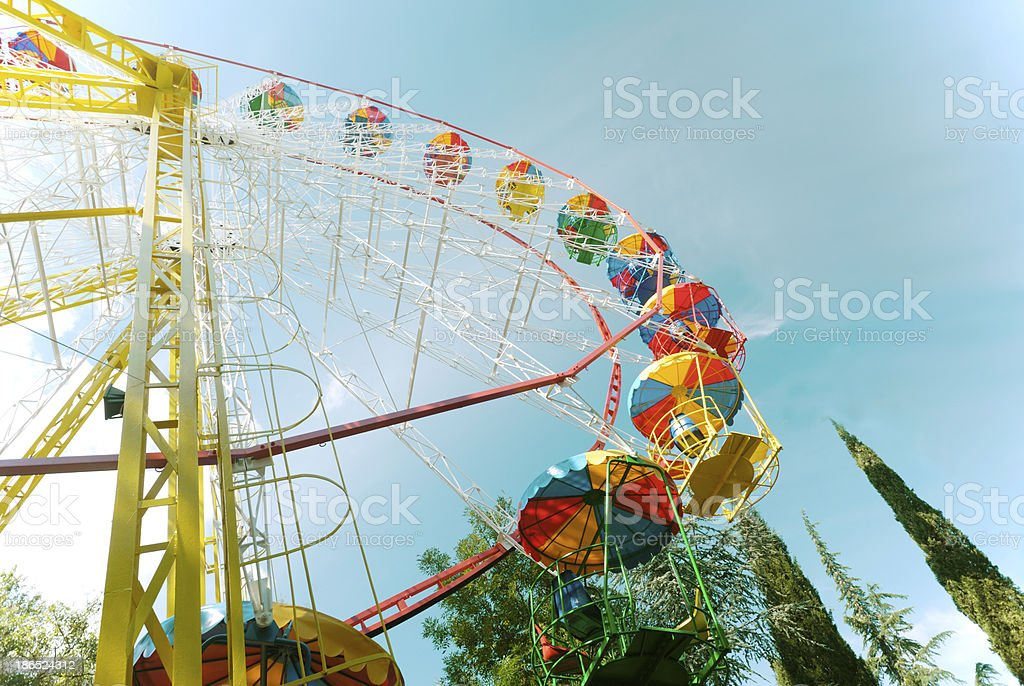 Beautiful colorful ferris wheel royalty-free stock photo