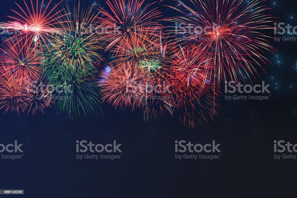 Mooie kleurrijke vuurwerk op viering nacht weergeven - Royalty-free Abstract Stockfoto