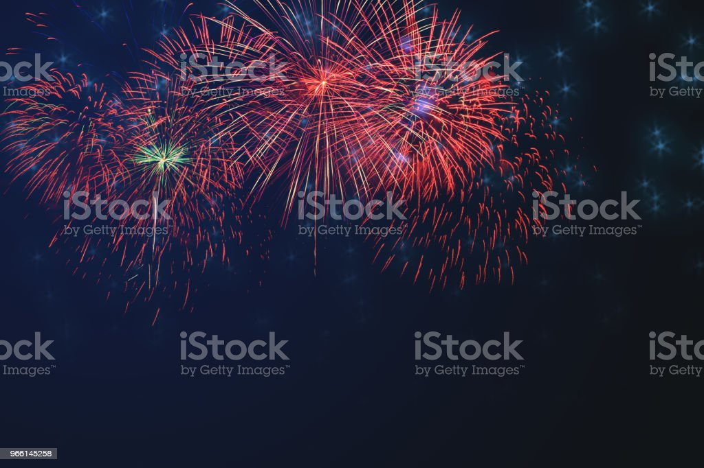 Beautiful colorful firework display on celebration night - Royalty-free Abstract Stock Photo