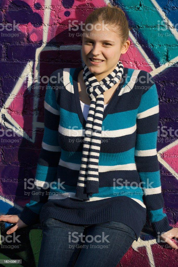 Beautiful Colorful Girl stock photo