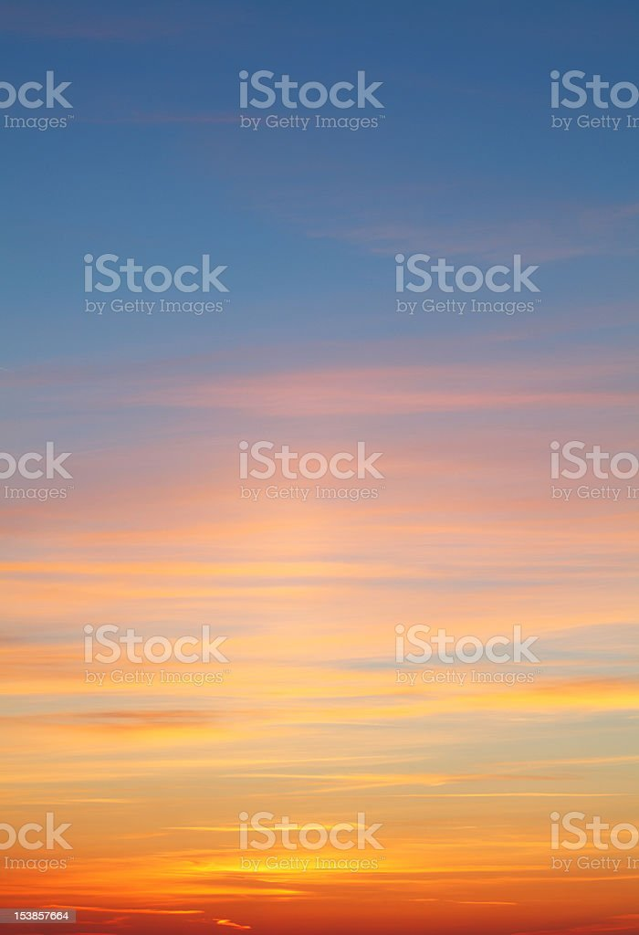 Beautiful colorful sunset stock photo