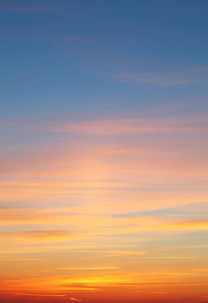 Beautiful colorful sunset stock photo