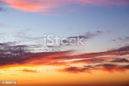 istock Beautiful colorful sunset 518685726