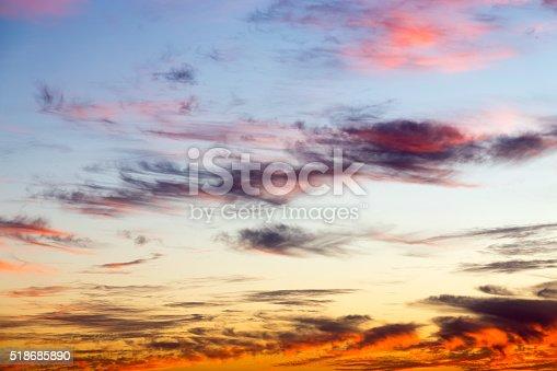 istock Beautiful colorful sunset 518685890