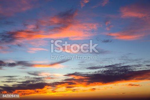 istock Beautiful colorful sunset 542326410