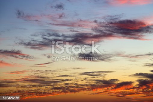 istock Beautiful colorful sunset 542326456
