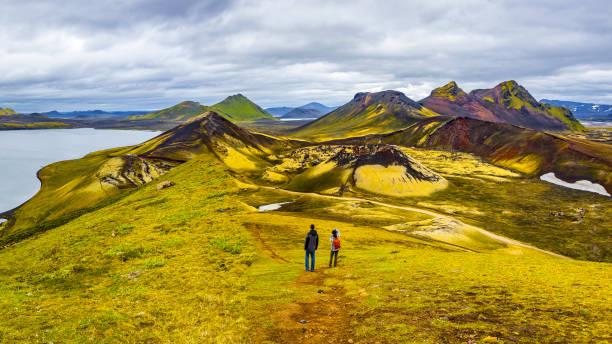 Schöne bunte Vulkanberge Landmannalaugar in Island – Foto