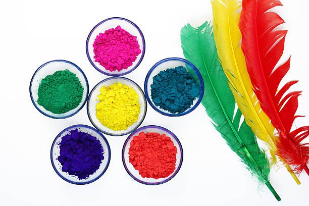 Beautiful colours of Gulal stock photo
