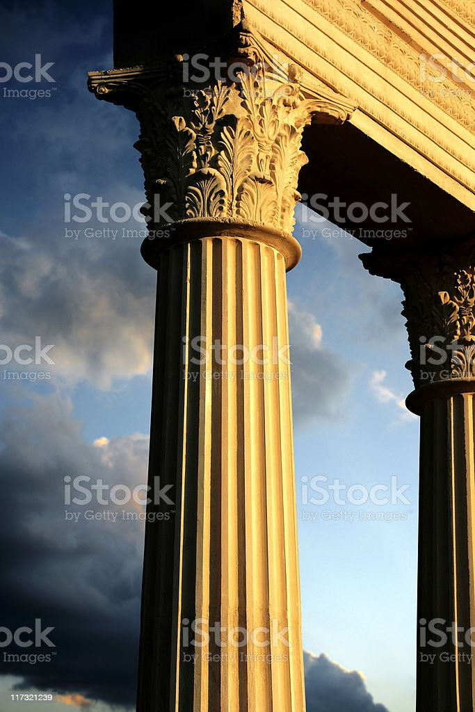beautiful column royalty-free stock photo