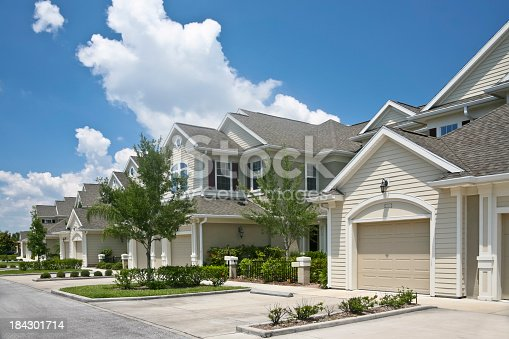 istock Beautiful condominium community 184301714