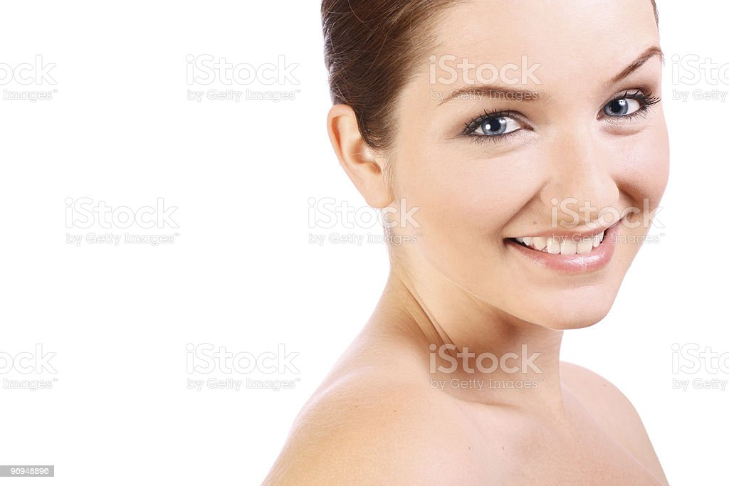 Beautiful confident woman smiling at the camera royalty-free stock photo