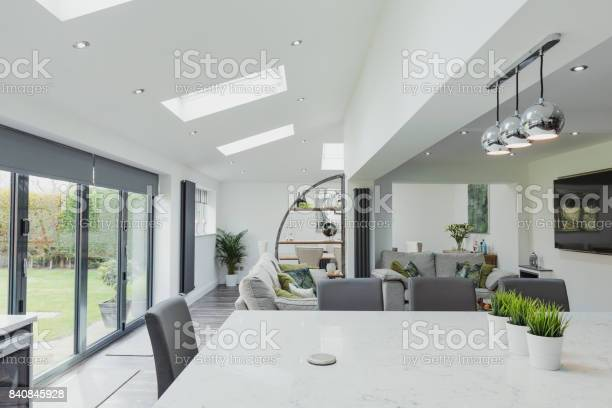 Beautiful Contemporary Kitchen And Living Room Stock Photo - Download Image Now