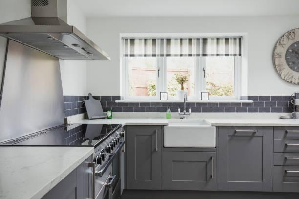 Beautiful Contemporary Kitchen stock photo