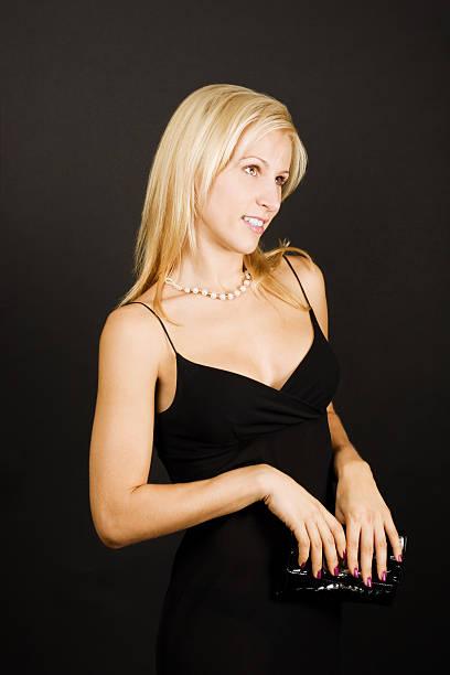 Beautiful coquet female stock photo