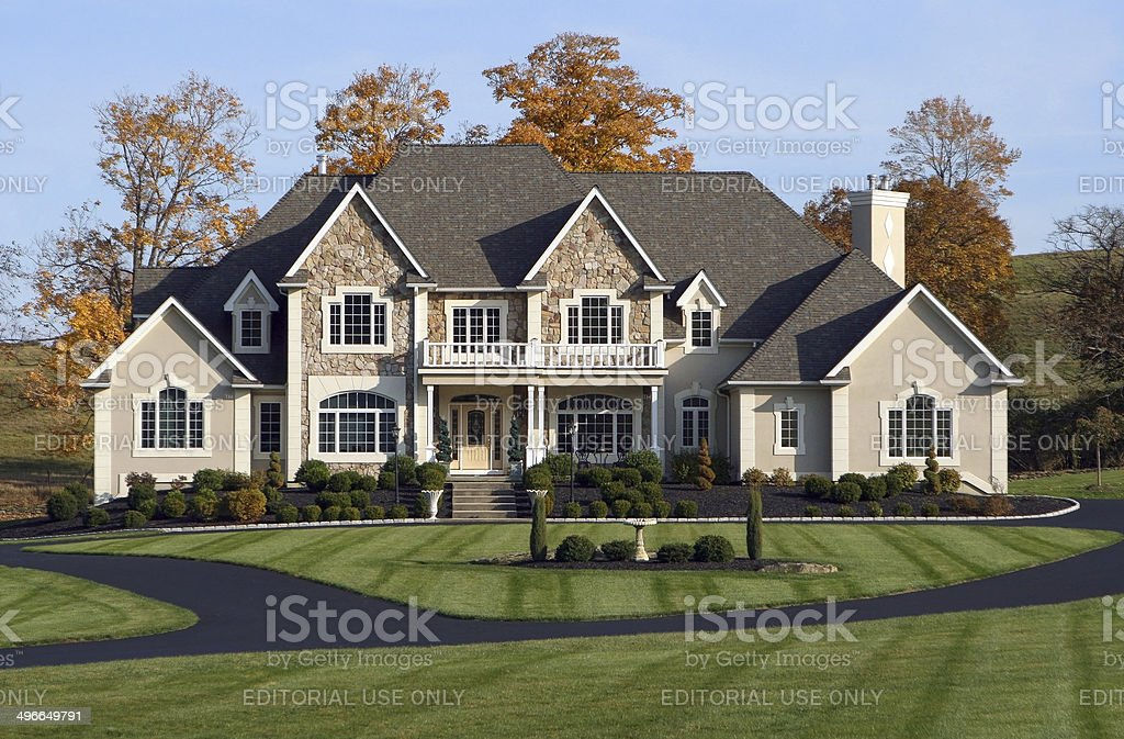 Beautiful Country Estate stock photo