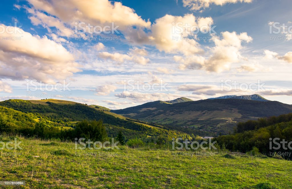 beautiful countryside afternoon stock photo