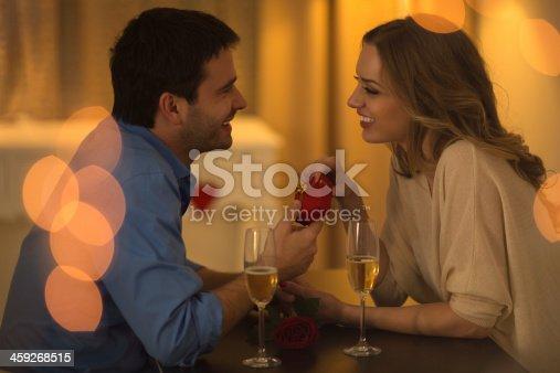 istock Beautiful couple date. 459268515