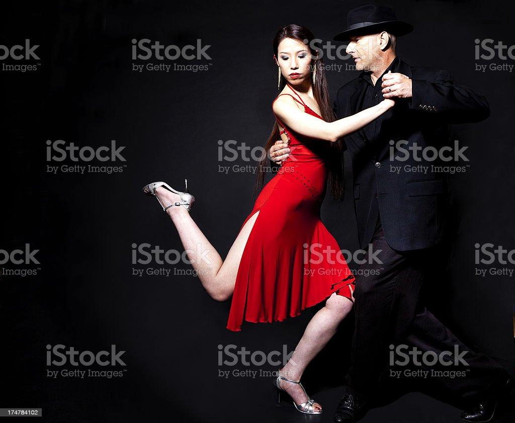 beautiful couple doing the tango royalty-free stock photo