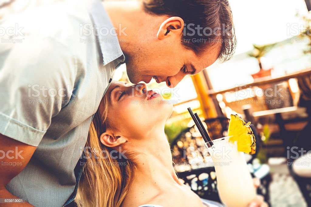 Beautiful couple enjoying relationship stock photo