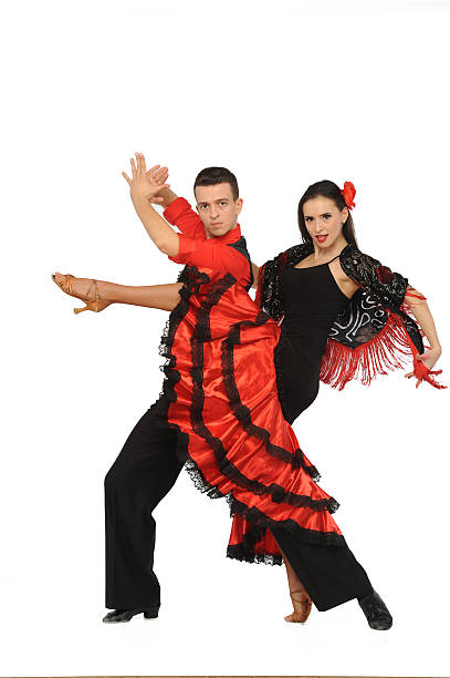 Schönes paar Tanzen in die active-Ballsaal – Foto